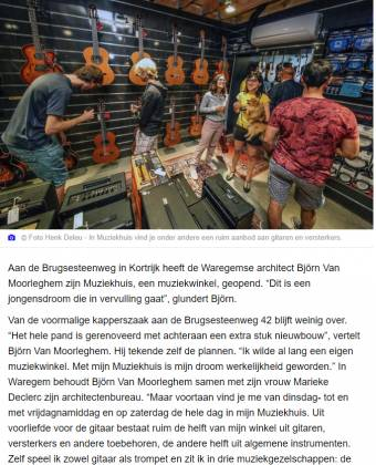 Artikel in HLN.be